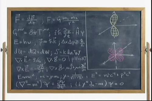 Physics Chalkboard