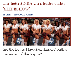 NBA Cheerleaders (Probably Obama Voters)